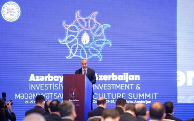 Azərbaycan İnvestisiya və Mədəniyyət Sammiti öz işinə başladı