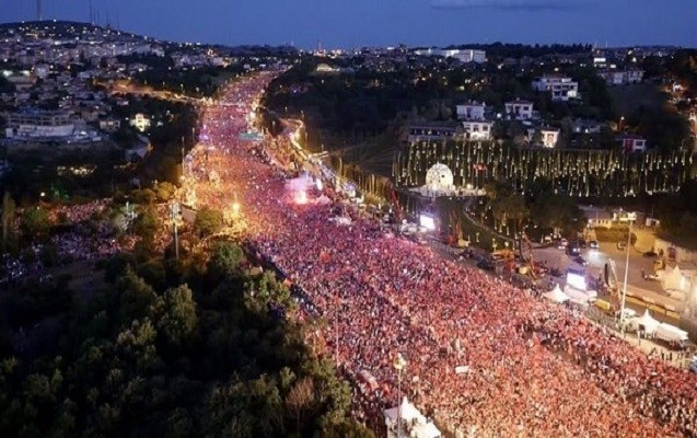 15 iyul tədbirlərində neçə milyon nəfər iştirak edib?