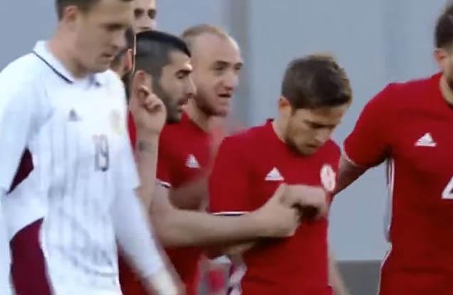 Gürcüstan Latviyaya futbol dərsi keçdi