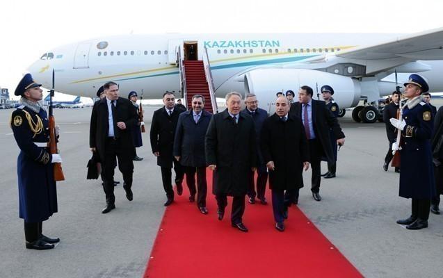 Nazarbayev Azərbaycana gəlib