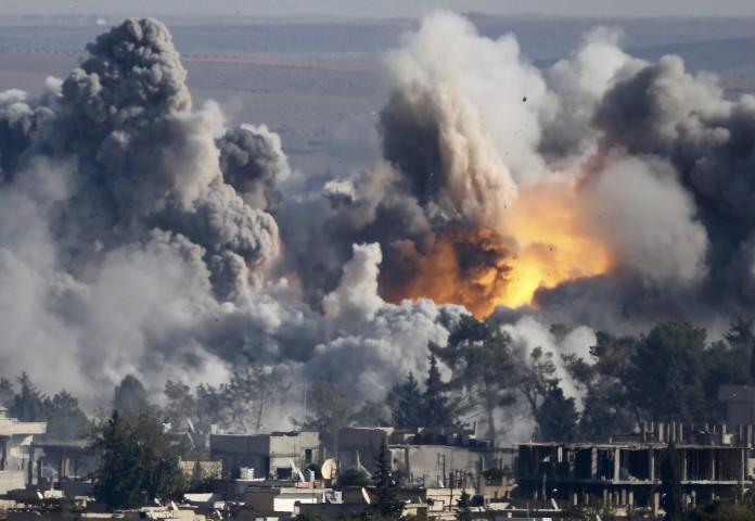 Koalisiya qüvvələri Suriyanı bombaladı