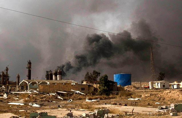 İraq ordusu Suriyada İŞİD-i vurdu