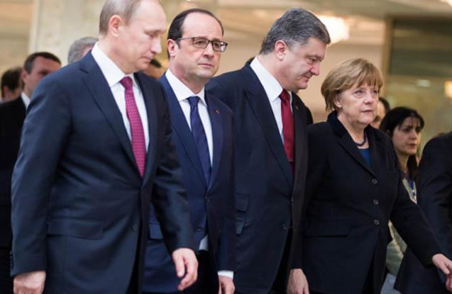 Putin Merkel, Olland və Poroşenko ilə danışdı