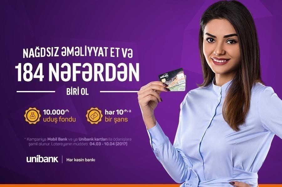 Unibankın 10 minlik lotereyasının qalibləri məlum oldu
