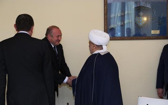 Şeyx Gürcüstan prezidenti ilə görüşüb