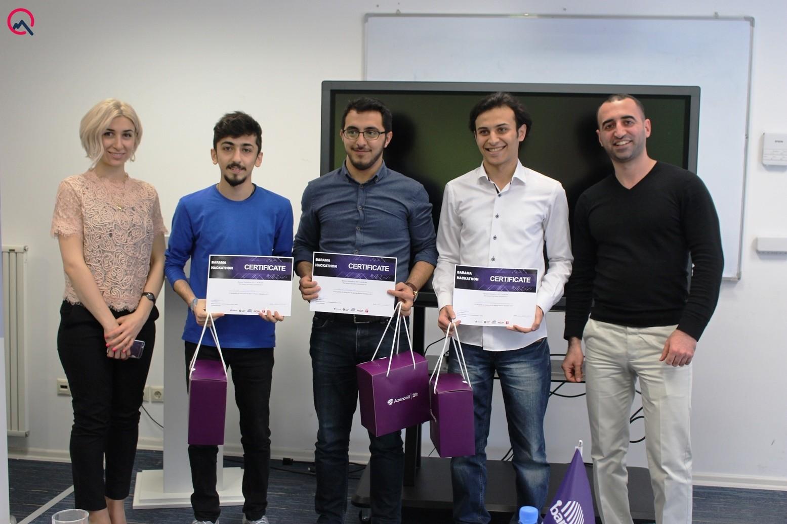 """""""Barama Hackathon 2017"""" layihəsinin qalibləri açıqlandı"""