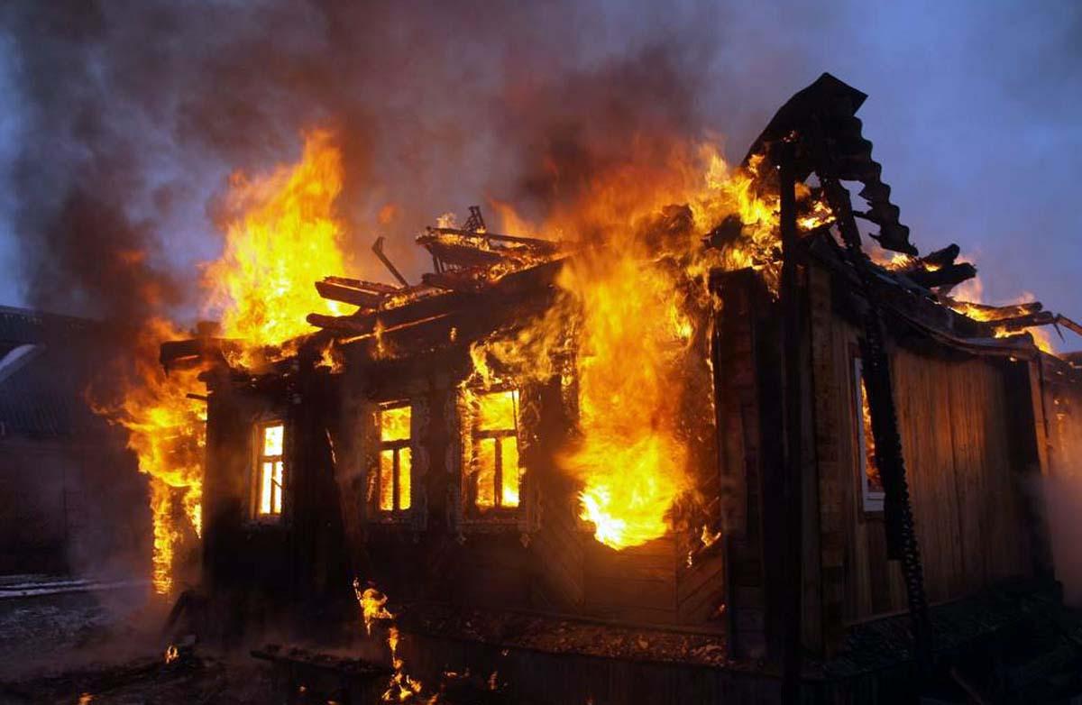 Ev yandı,