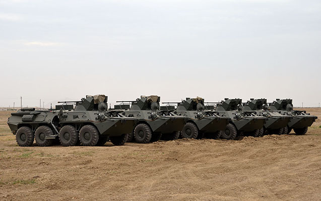 Rusiyadan gətirilən hərbi texnika silahlanmaya daxil edilib - Video