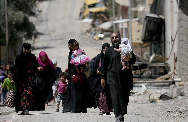 Sakinlər yeniden Mosulu tərk edirlər