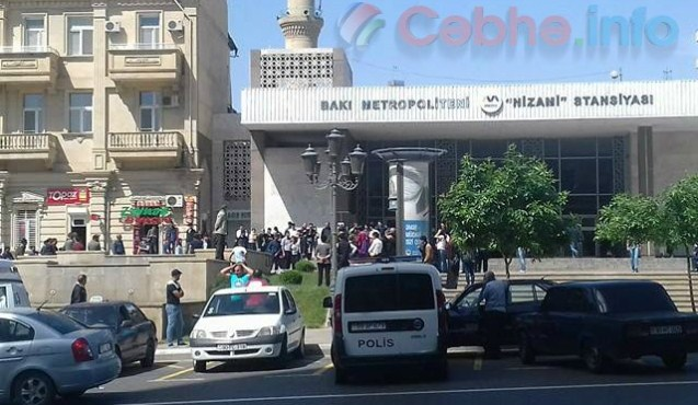 """""""Nizami"""" metrosunun qarşısında ölüm"""