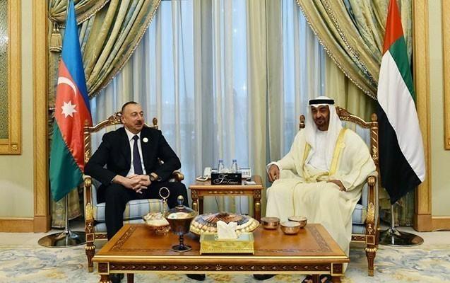 Prezident Abu Dabinin vəliəhdi ilə görüşdü
