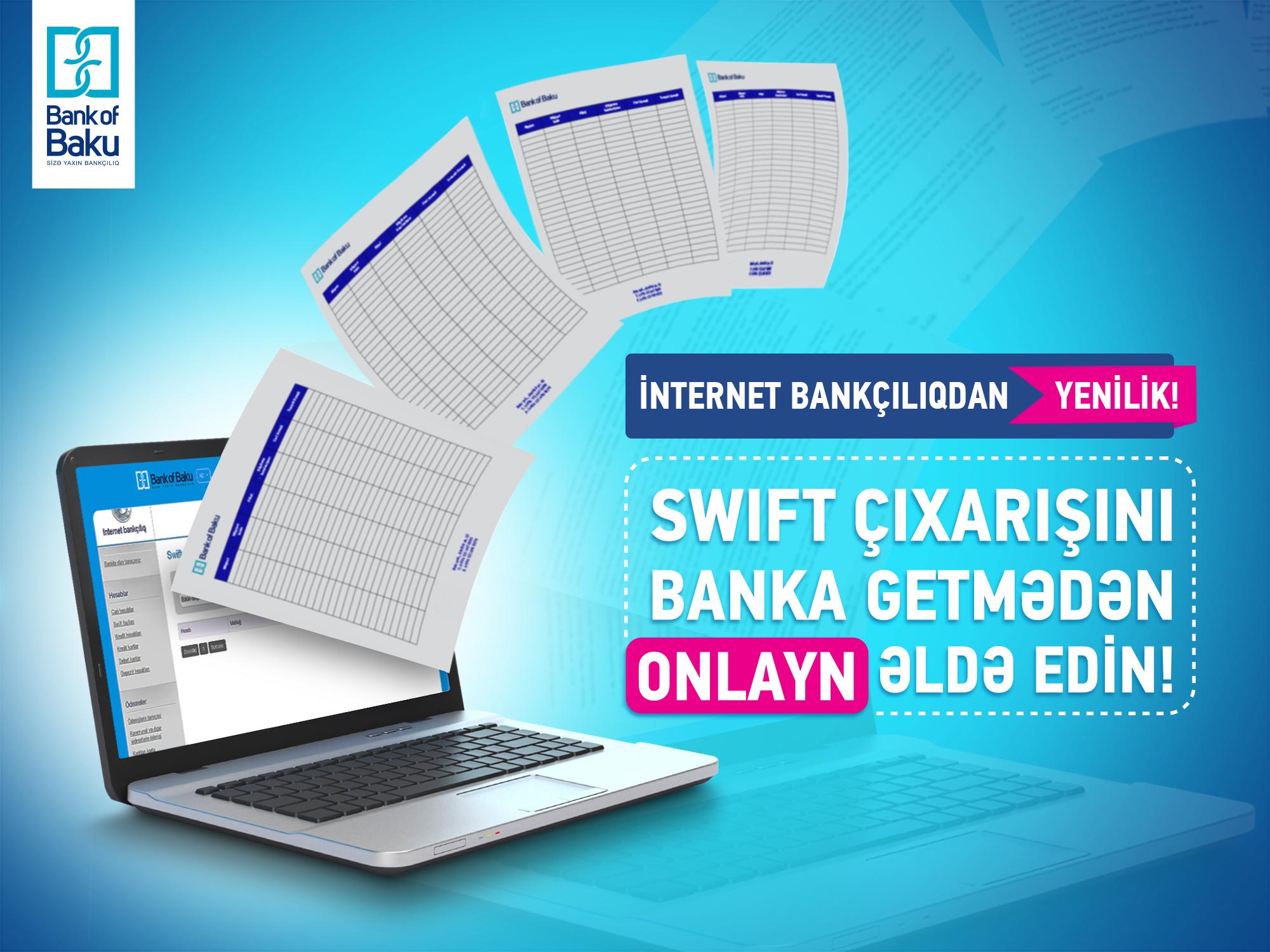 Bank of Baku İnternet Bankçılıq xidmətini yeni funksiyalarla təkmilləşdirir