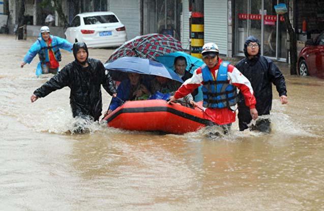 Çində daşqınlar nəticəsində 7 nəfər ölüb