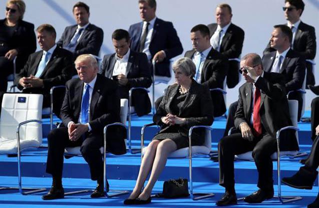 NATO liderlərinin Brüsseldə diqqət çəkən