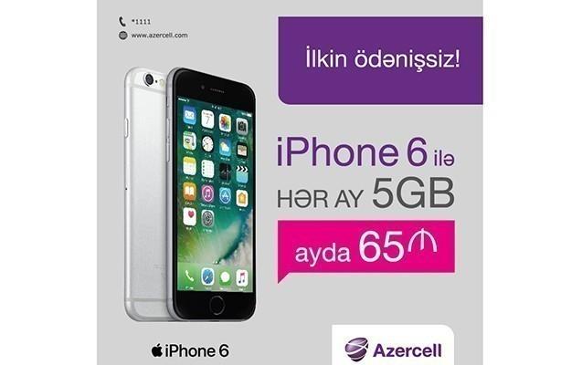 iPhone 6 sərfəli şərtlərlə satışda