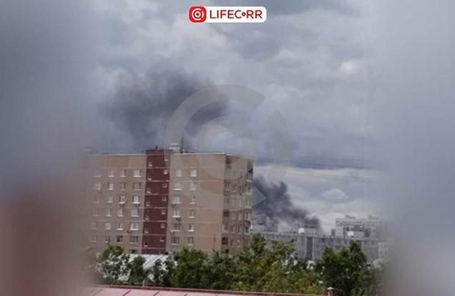 Moskvada internat yanır