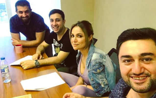Nigar Camal filmə çəkilir - Fotolar