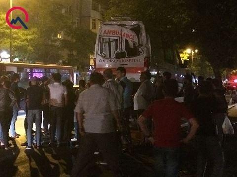 """Bakıda məşhur klinikanın """"ambulance""""ı qəzaya düşdü - Foto"""