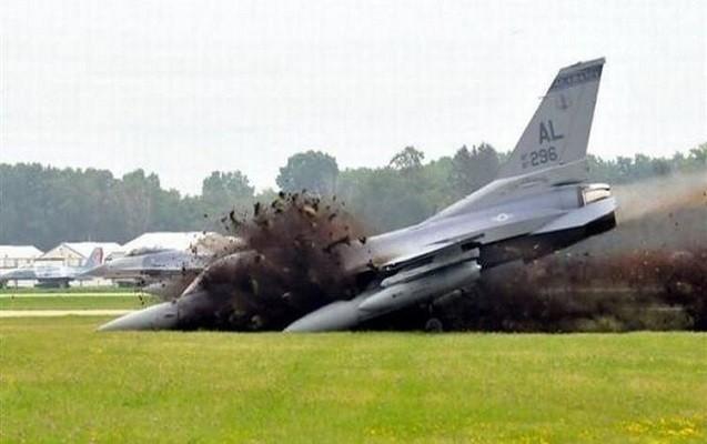 """ABŞ-da """"F-16"""" qəzaya uğradı"""
