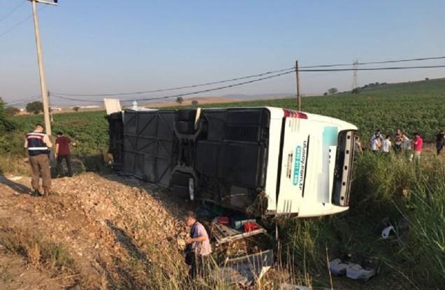 Türkiyədə avtobus qəzaya uğrayıb