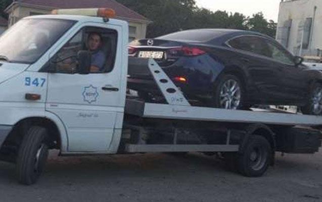 Sürücü yol polisini məhkəməyə verir - Qanunsuz evakuasiya iddiası