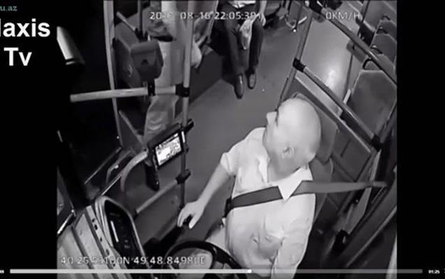 Avtobus sürücüsünə silah çəkənin atası polis zabitidir