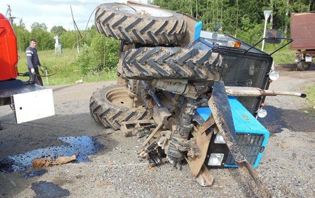 Traktor aşdı, 4 nəfər yaralandı