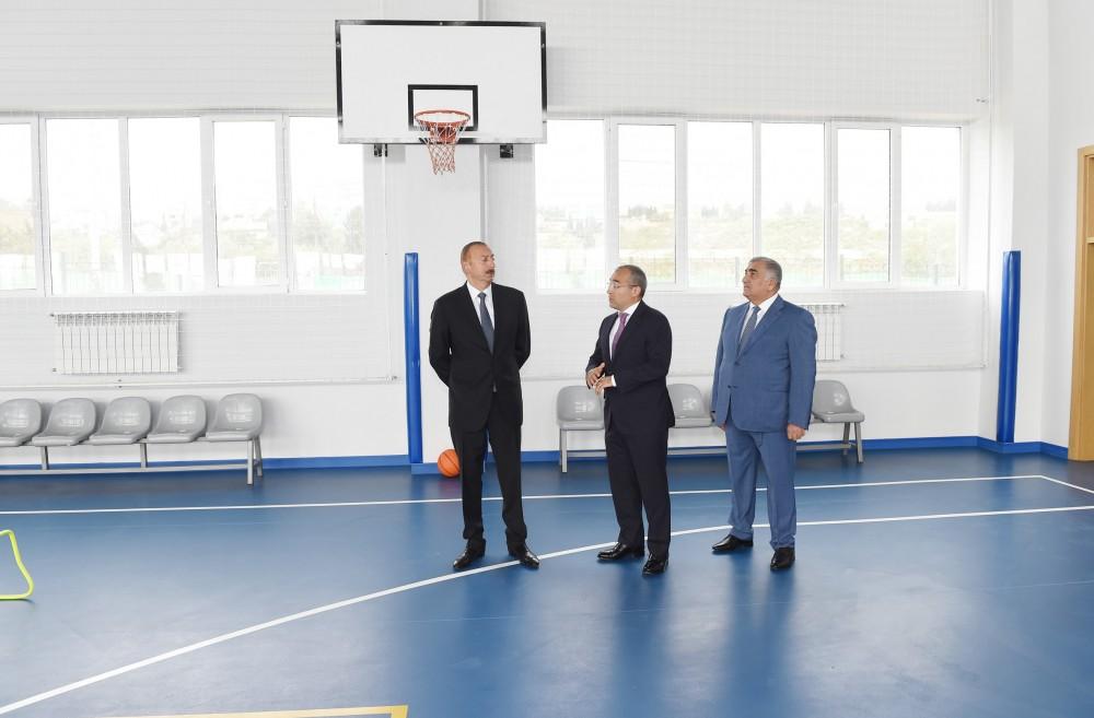 Ölkə prezidenti İlham Əliyev yeni idman bazasının açılışını etdi