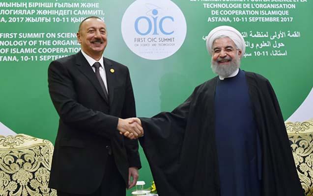 Prezident Astanada Ruhani ilə görüşdü