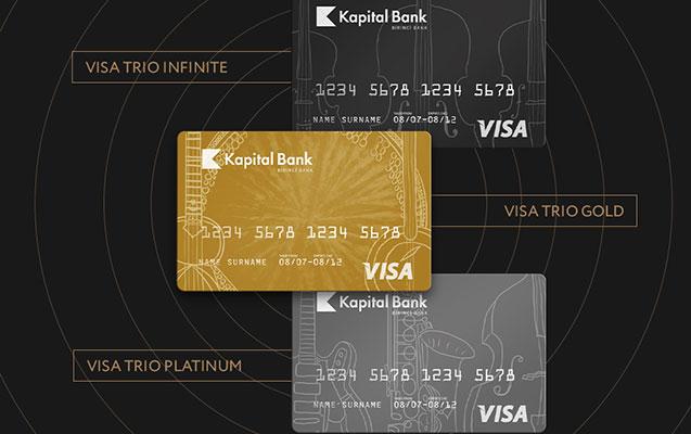 Kapital Bank 3 valyutalı Visa Trio kartlarını təqdim edir