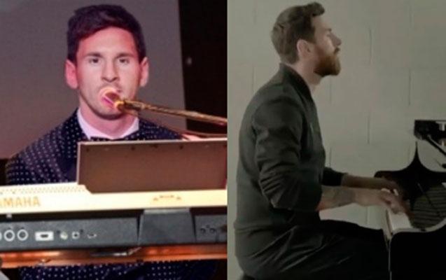 Messi pianoda ÇL himnini ifa etdi