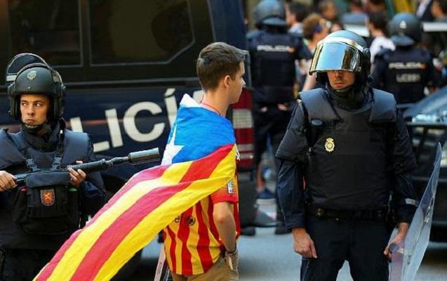 İspaniya polisi Kataloniyada hökumət binasına basqın etdi
