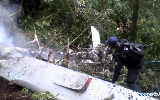Meksikada helikopter qəzaya uğrayıb