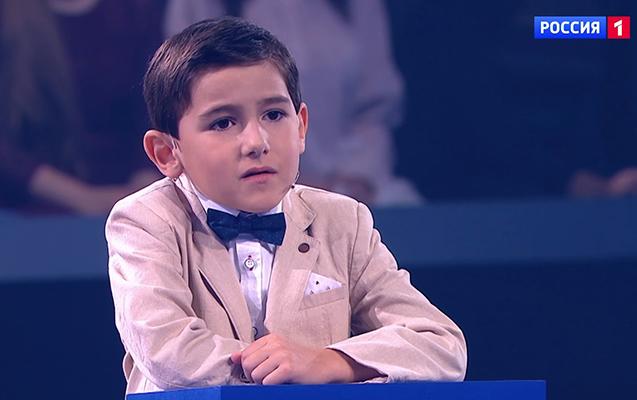 6 yaşlı Ruslan Rusiyanı heyrətləndirdi - Video