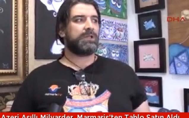Azərbaycanlı milyarder gənc rəssamın rəsmini aldı