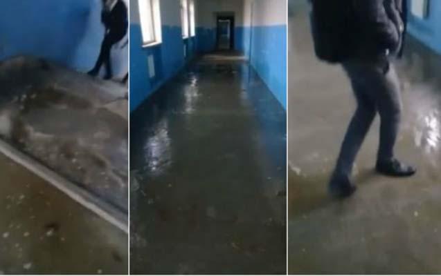 Ağsuda məktəbi su basdı