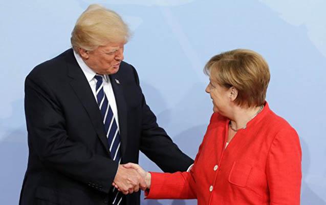 Tramp Merkeli təbrik etdi