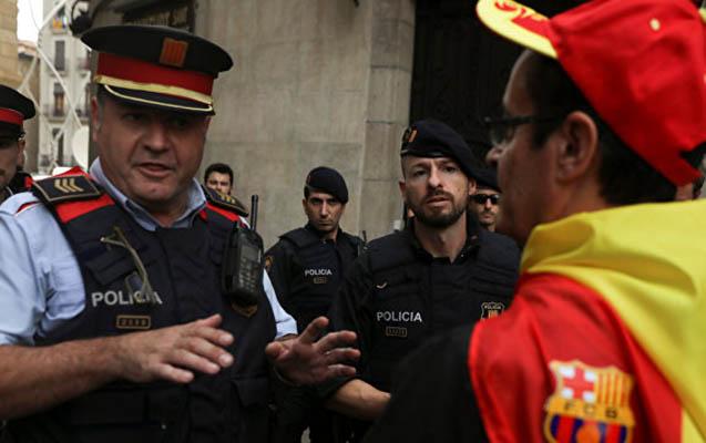 Barselonada referendum öncəsi təhlükəsizlik