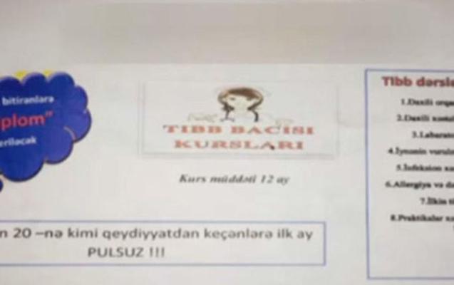 Özəl kurslarda 12 aya tibb bacısı olmaq mümkündür? - Video