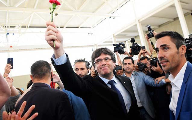 Kataloniyanın lideri danışdı