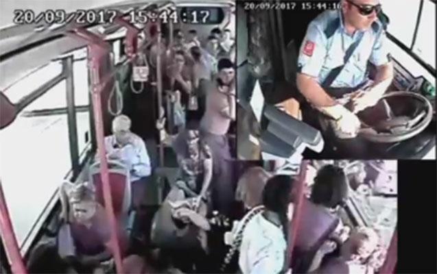 Bu avtobus sürücüsü ilə bağlı şikayət edildi
