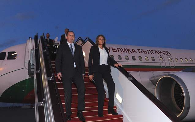 Bolqarıstan prezidenti xanımı ilə Bakıdadır