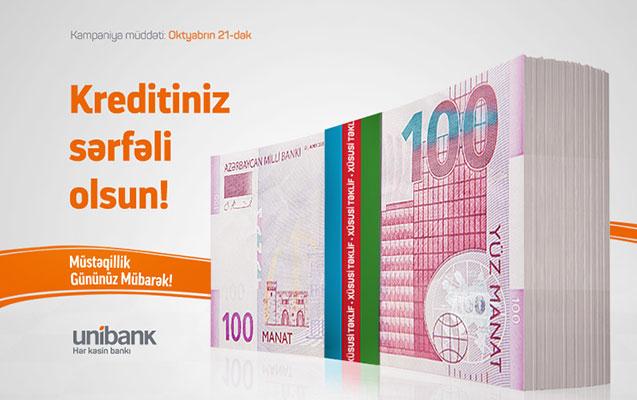 Unibank Müstəqillik günü ilə bağlı kampaniya keçirir