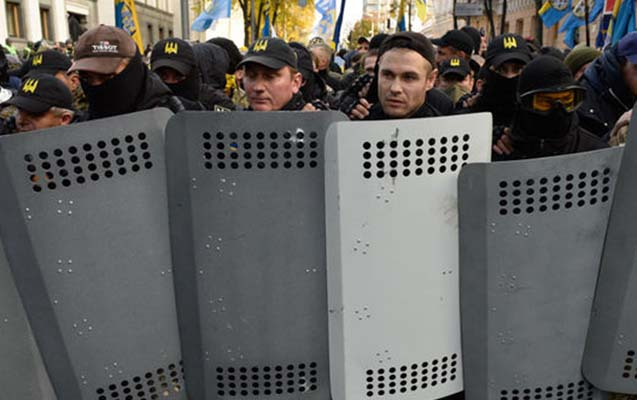 Kiyevdə 11 etirazçı saxlanıldı