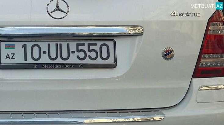 Bakıda Ermənistan bayrağlı avtomobillə bağlı