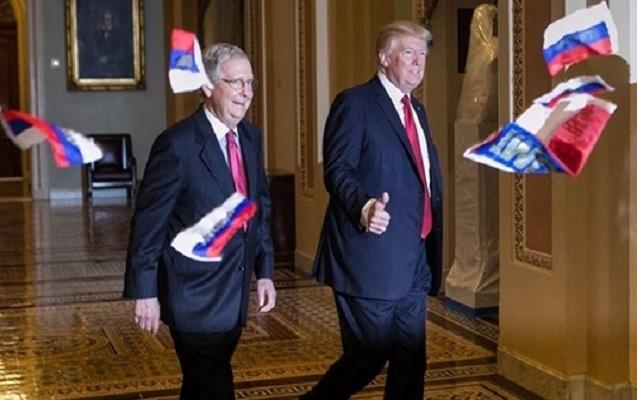 Trampa Rusiya bayrağı atıldı