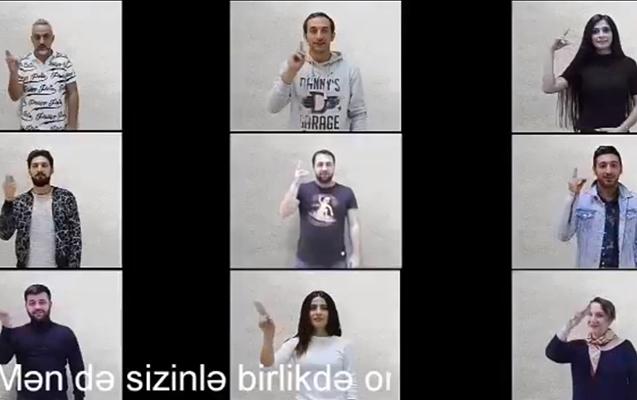 Məşhurlar işarət dilində danışdı