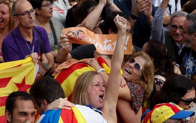 Barselona küçələrində müstəqillik sevinci