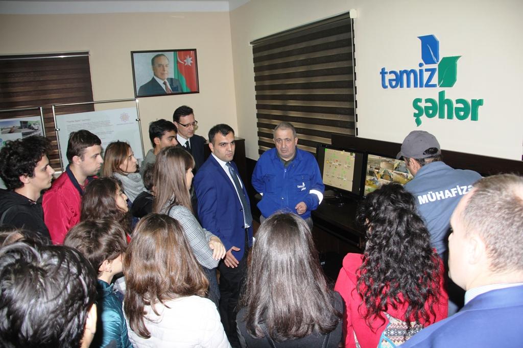 """MDU-nun Bakı filialı """"Təmiz Şəhər""""in fəaliyyəti ilə tanış olub"""