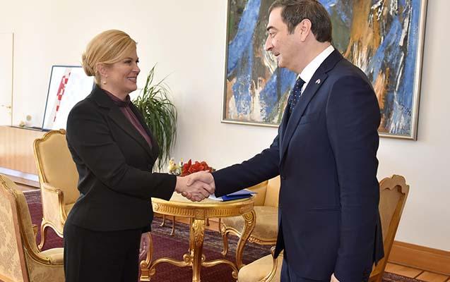 Azərbaycanlı səfir Xorvatiyanın ali ordeni ilə təltif edildi